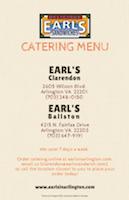 Downloard Earl's Catering Menu