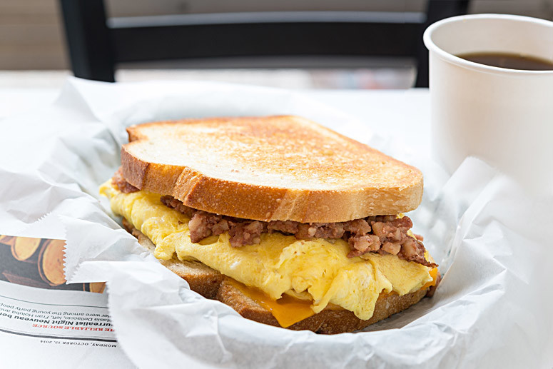 Breakfast sandwiches served all day